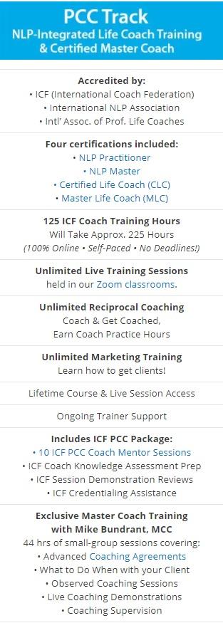 NLP Life Coach PCC Track