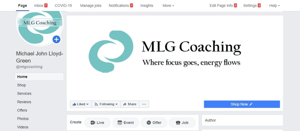 My NLP Coaching Facebook Page