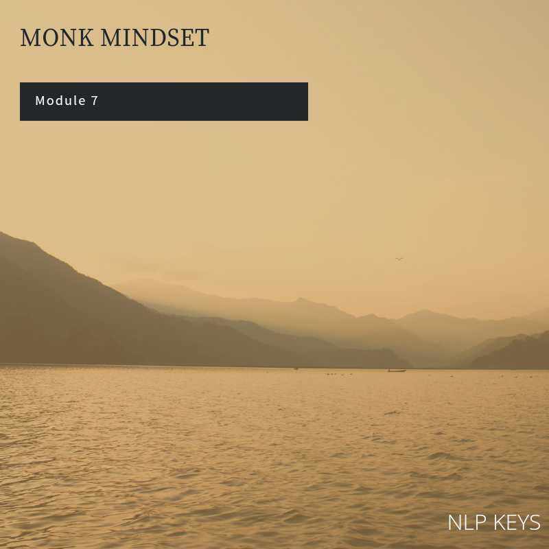 Module 7 - Monk Mindset