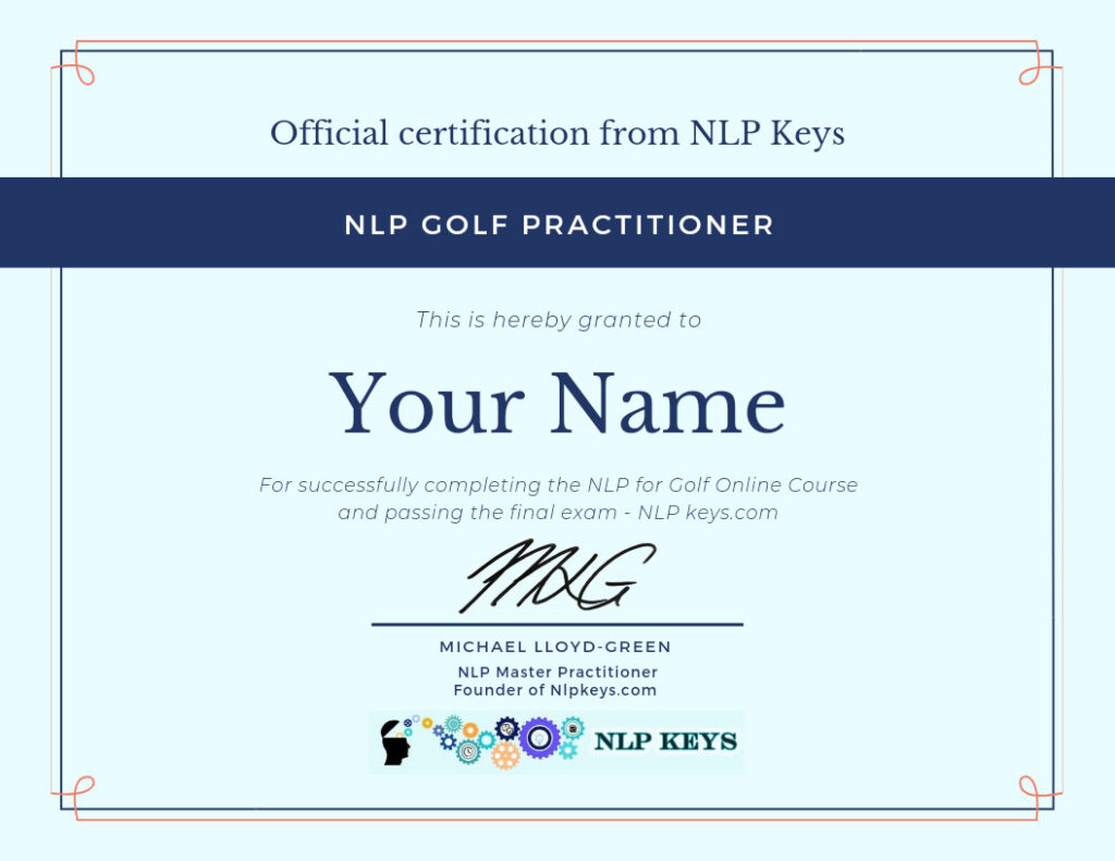 NLP for Golf Official Certificate